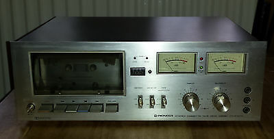 Vintage Pioneer Stereo Cassette Tape Deck Model CT-F7070