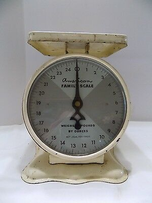 VINTAGE AMERICAN FAMILY SCALE SHABBY CHIC KITCHEN DECOR 25lbs