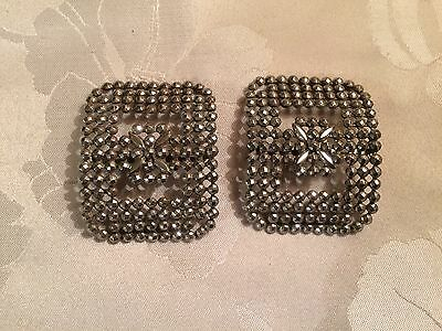 Pair of Antique French Victorian Cut Steel Belt / Shoe Buckles  - Lot 13