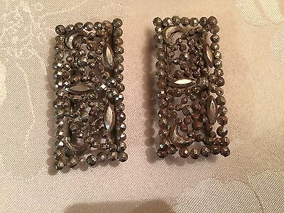 Pair of Antique French Victorian Cut Steel Belt / Shoe Buckles  - Lot 15