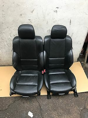 M Sport Black Leather Interior Seats-BMW E46 3 Series Coupe Electric Memory