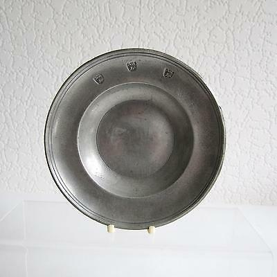 Antique/Vintage Small Pewter Plate/Pin Dish