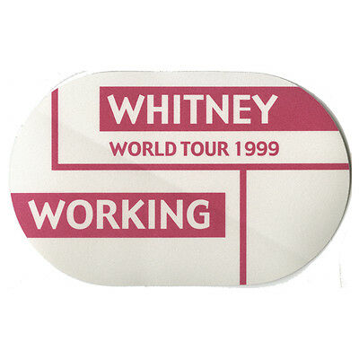 Whitney Houston authentic 1999 My Love is Your Love tour Backstage Pass crew