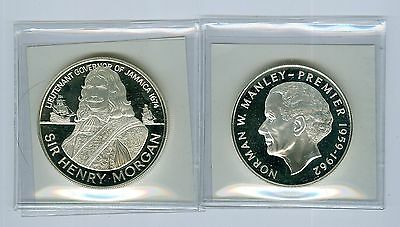Jamaica coins: $5 and $10  Proof,year 1974..Cat:$70us..1.8652oz