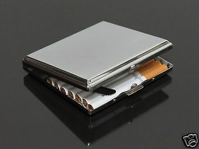 Metal 20 Cigarettes Tobacco Cigarette Case Hold Hand-rolling Cigarette Box #302