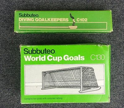 Subbuteo Accessories - C102 & C130 Diving Goalkeepers  & World cup Goals (Boxed)