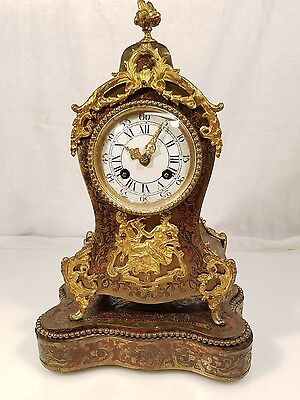 Superb Miniature Boulle Clock on Stand Silk Suspension movement TLC