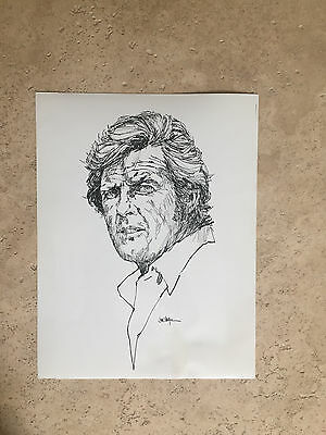 rare Orig. 1971 photo / artwork / sketch Roger Moore THE PERSUADERS James Bond