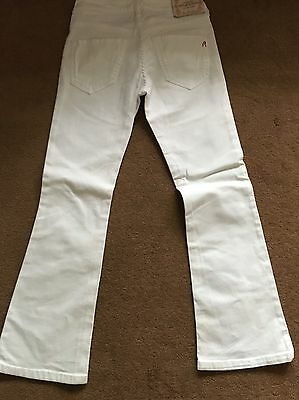 Girls Replay White Jeans BNWOT Size 30 Age 8-9-10 Yrs