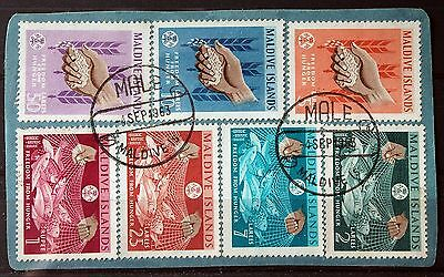 Maldive Islands – 1963 – Freedom from Hunger Set Superb Used - ON PIECE (Se1a)