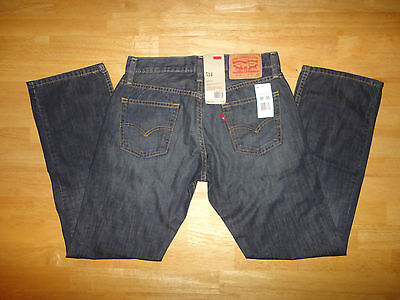 Mens LEVI'S 514 STRAIGHT FIT Zipper Fly Dark Blue Jeans - Size 30 x 30 *NEW*