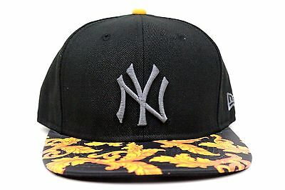 6d459b89b22 New York Yankees Black Yellow Wreath Visor New Era Original Fit Strapback  Hat