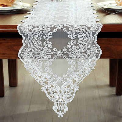 Lace Table Runner Floral Embroidered Tablecloth Wedding Party Mesh Home Decor