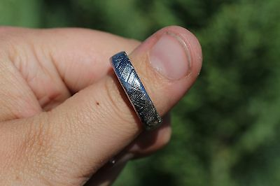 Meteorite Jewelry Meteorite ring 6mm band