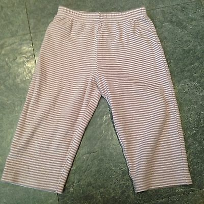 Next Striped Baby Pink And Beige Cotton Leggings Aged 12-18 Months