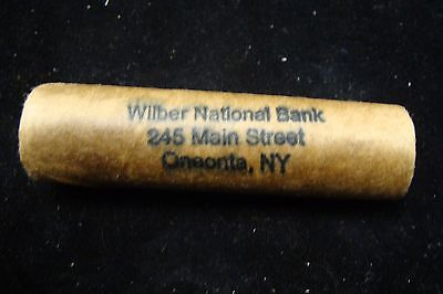 Original Shotgun Vintage Roll of Pennies from Wilber National Bank, Oneonta NY