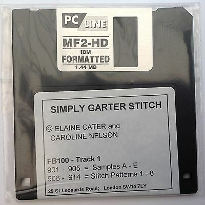 Simply Garter Stitch FB100 Floppy Disc - by Elaine Cater