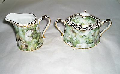 cream and sugar dish Skye McGhie Antique Rose porcelain cream and sugar set