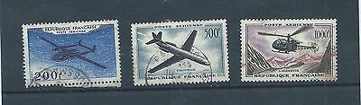 France stamps. 1957 Air set used. (X709)