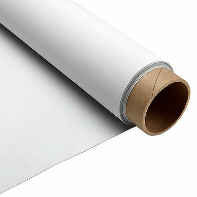 """Carl's Blackout Cloth, 16:9, 4:3, 126""""-140"""" Projector Screen Material, White, T"""
