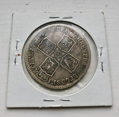 1745 British Half Crown.. nice Orig. f-vf