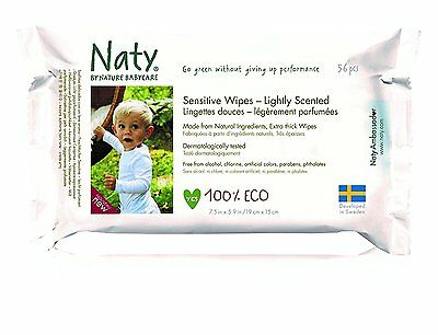 Naty by Nature Babycare ECO Lightly Scented Wipes - 12 x Packs of 56 672 Wipes