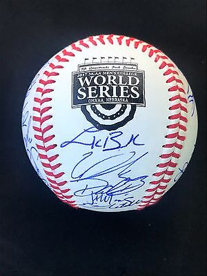 2017 Tcu Horned Frogs Team Signed College World Series Baseball Coa Authentic