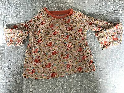 Cath Kidston Squirrel Print Top 1-2 Years