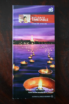 Timetable Thai Airways Winter 2004