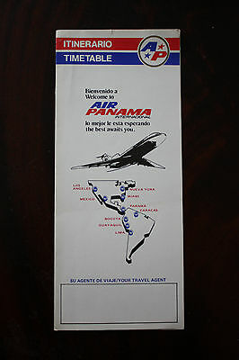 Timetable Air Panama Internacional Summer 1985