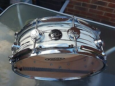 """DW Collectors maple Drum Workshop 14"""" x 5"""" Snare Drum Mint Oyster Pearl"""