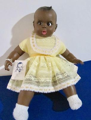 Gerber Baby Black African American Doll 18 in. Flirty Eyes with Gerber Tag USA