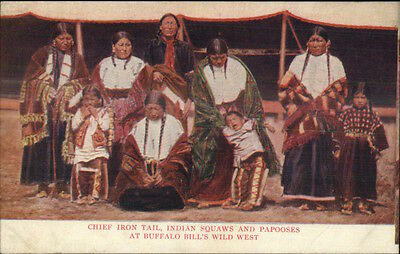 Circus - Chief Iron Tail Indians Buffalo Bill's Wild West c1910 Postcard
