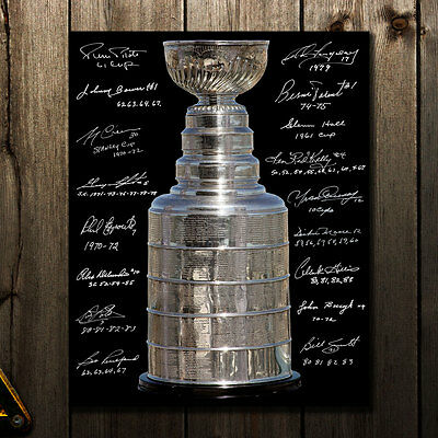 NHL All-Time Stanley Cup Champions Autographed 16x20 Signed by 17