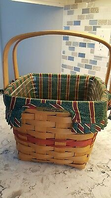 Longaberger Christmas Collection 1995 Edition Red Cranberry Basket