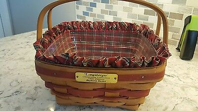 Longaberger 1993 Limited Edition Bayberry Basket with Liner and Protector