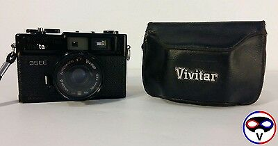 Vivitar 35EE Rangefinder 35mm Film Camera, Lens 38mm 1:2.8, Leather Case