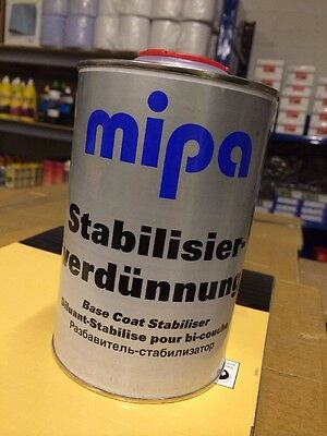 MIPA BASECOAT Stabiliser Stabilizer Thinner 1L LITRE for metallic PAINT