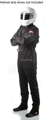 Racequip One Piece LARGE Black Driving Racing Fire Suit Single Layer SFI 3.2/1