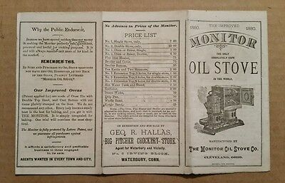 Monitor Oil Stove Co.Cleveland,O.,Sales Brochure,1880