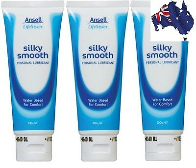 [AUSSIE~HOT~SALE] 3 x Ansell LifeStyles Silky Smooth Personal Lube 100g