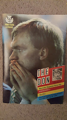The Don : March 1987 Aberdeen v CelticProgramme