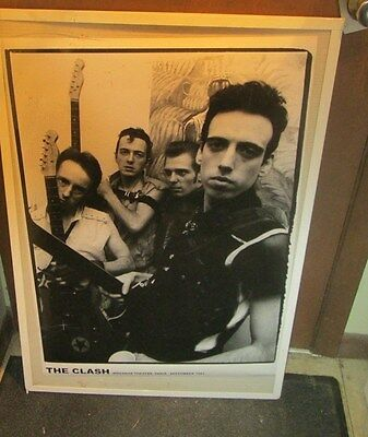 Clash Poster Live New Never Opened Late 2000's Vintage Paris 1981 Joe Strummer