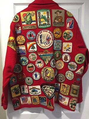 Vintage Rare SZ 50 Boy Scout Wool Jacket 90+ Patches Boston West Point 70's 80's