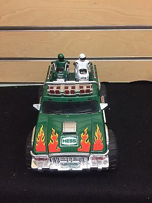 2007 Hess Monster Truck With 2 Motorcycles Complete