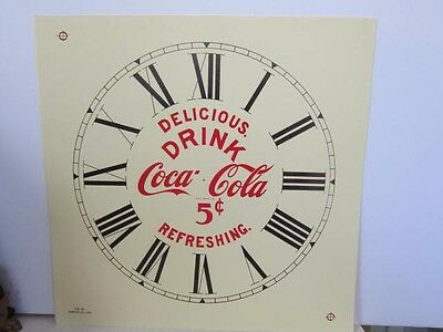 Vintage Advertising Clock Dial Coca Cola Roman Numerals Excellent Parts