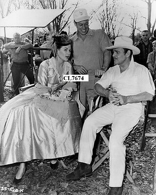 Yvonne De Carlo and Bob Morgan with Clark Gable on Movie Set of 'Band of Angels'
