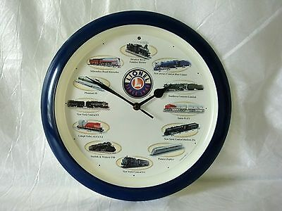 """Lionel Train Clock Train Sounds on the Hour 13"""" Wall Mount"""