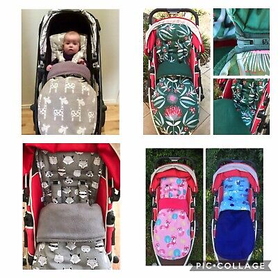 Universal pram liner, footmuff and strap cover set.