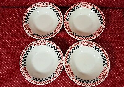 Coca Cola Checkered Bowls By Gibson Set Of Four 1996